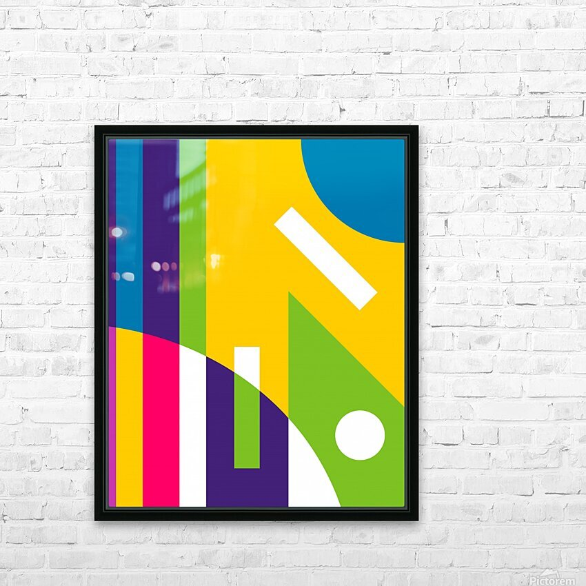 2 White Lines in Abstract Background HD Sublimation Metal print with Decorating Float Frame (BOX)