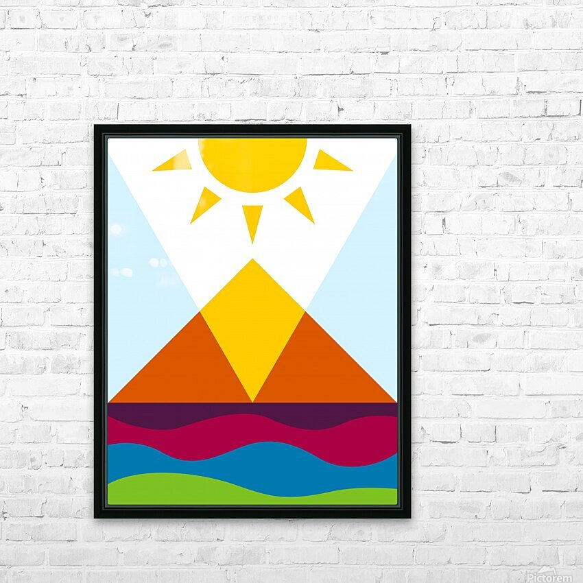 The Pyramid HD Sublimation Metal print with Decorating Float Frame (BOX)