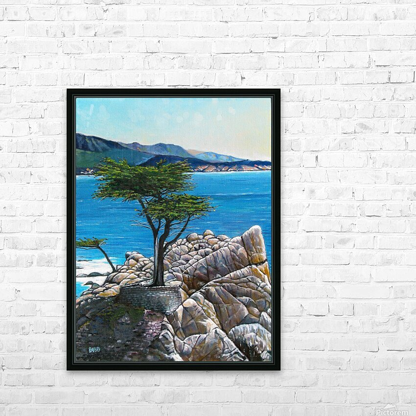 Lone Tree at Pebble Beach HD Sublimation Metal print with Decorating Float Frame (BOX)