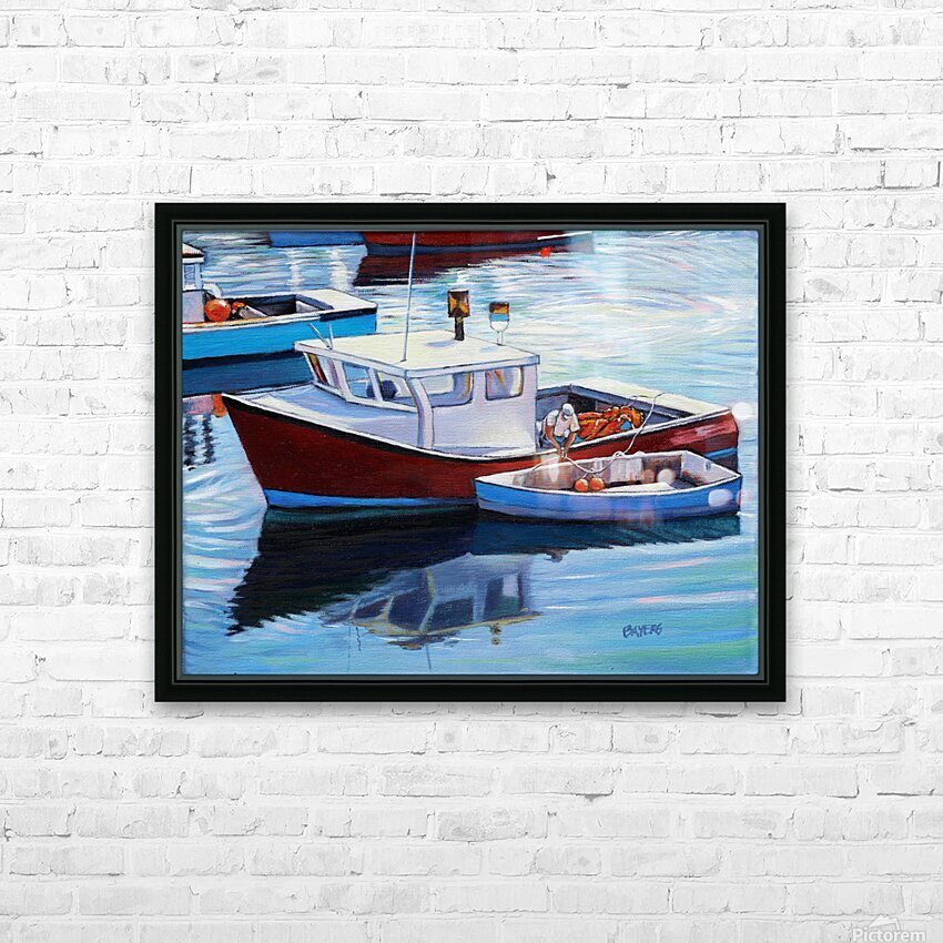 Tying Up Dinghy in Rockport MS HD Sublimation Metal print with Decorating Float Frame (BOX)