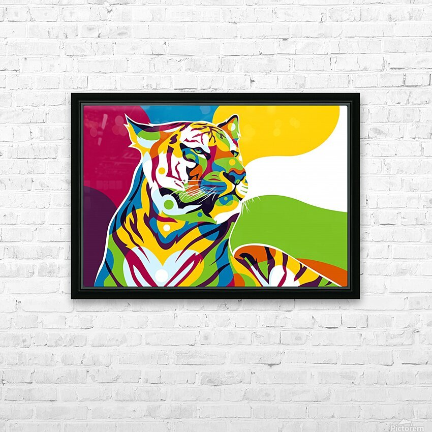 The King Tiger  HD Sublimation Metal print with Decorating Float Frame (BOX)