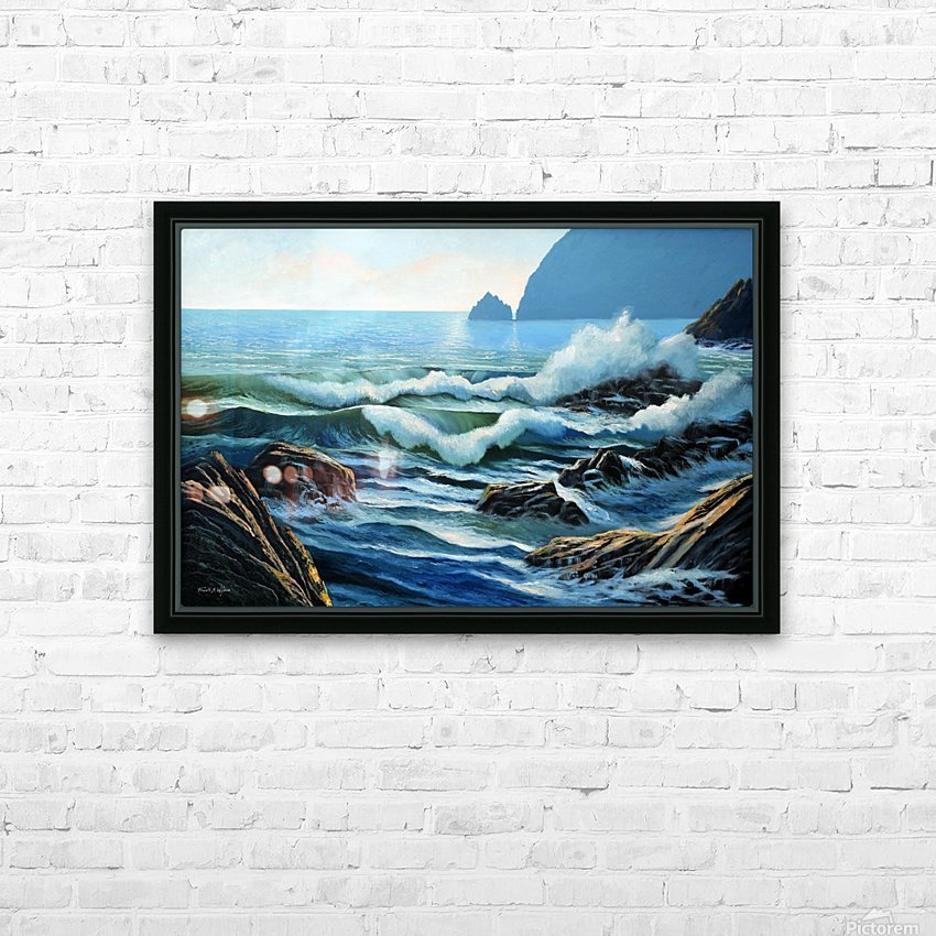 Rolling Breakers HD Sublimation Metal print with Decorating Float Frame (BOX)