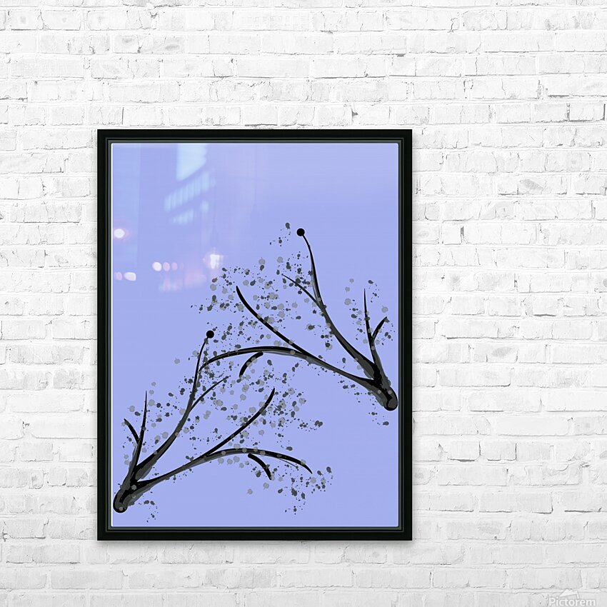 watercolor tree HD Sublimation Metal print with Decorating Float Frame (BOX)
