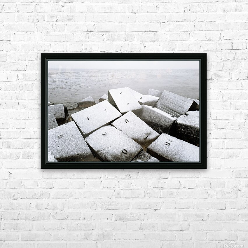 Sugar cubes HD Sublimation Metal print with Decorating Float Frame (BOX)