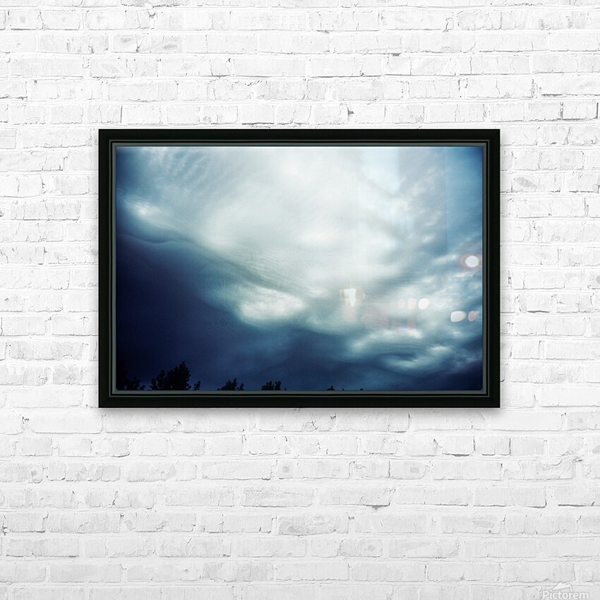 Psychedelic sky HD Sublimation Metal print with Decorating Float Frame (BOX)