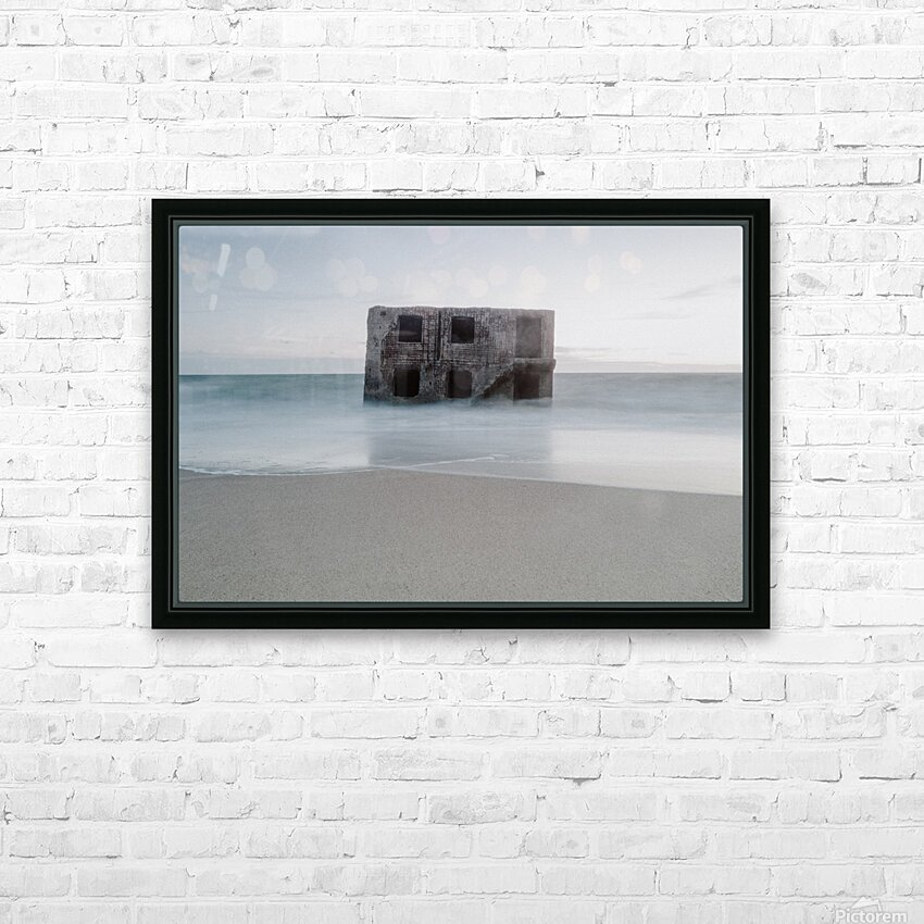 Fort in the sea HD Sublimation Metal print with Decorating Float Frame (BOX)