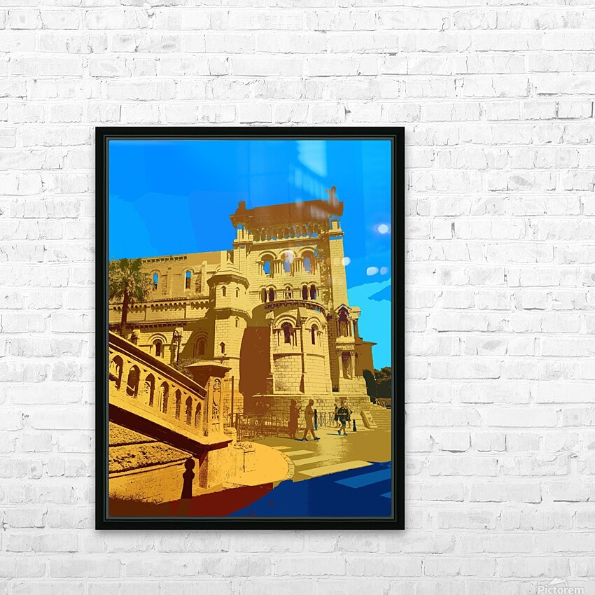 Dreams of Cannes France in Retro Behemian Style HD Sublimation Metal print with Decorating Float Frame (BOX)