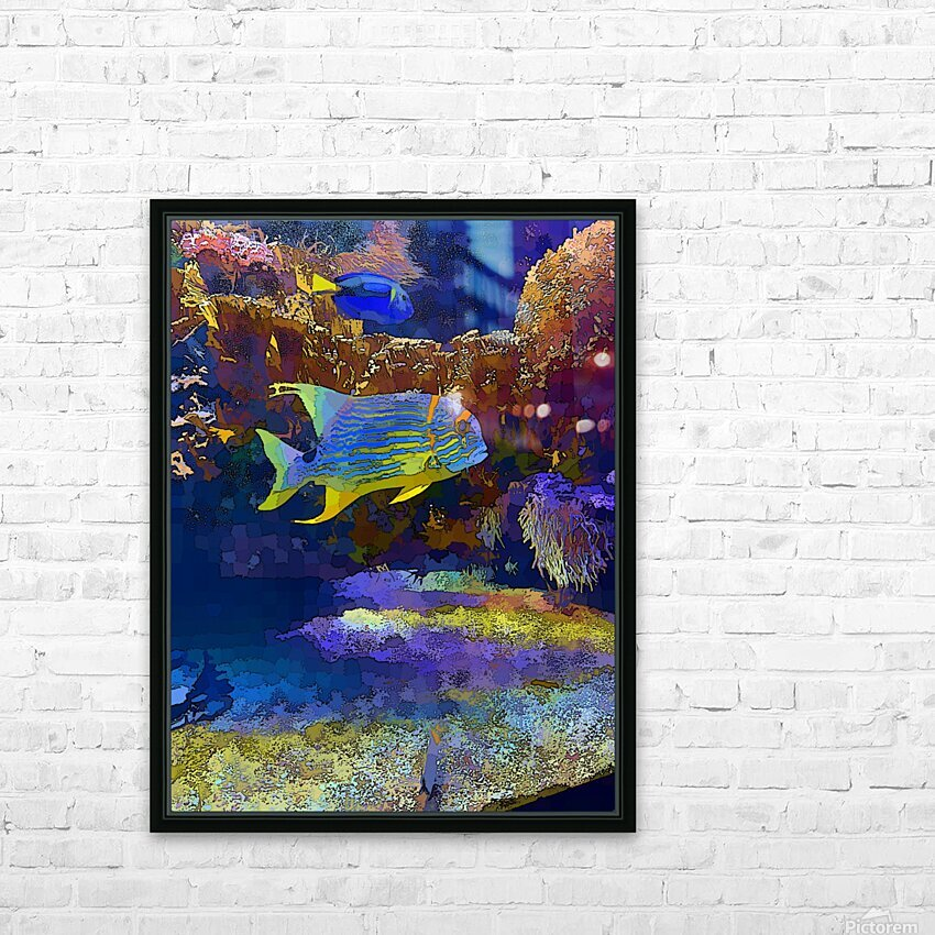 Venture into Unknown HD Sublimation Metal print with Decorating Float Frame (BOX)