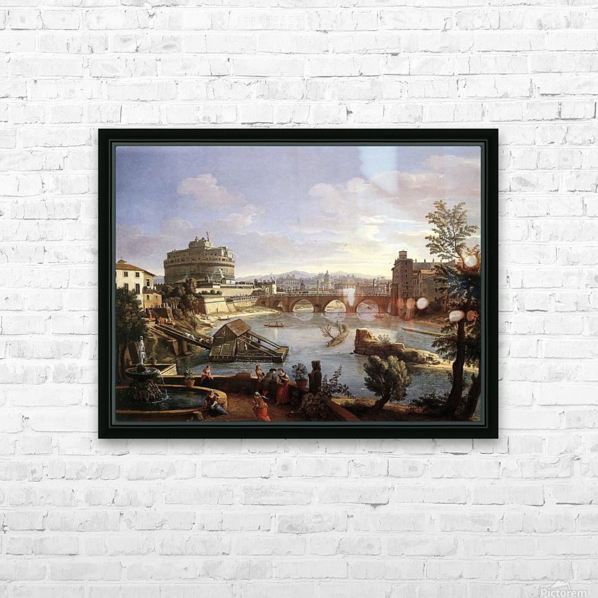 Castel Sant'Angelo HD Sublimation Metal print with Decorating Float Frame (BOX)