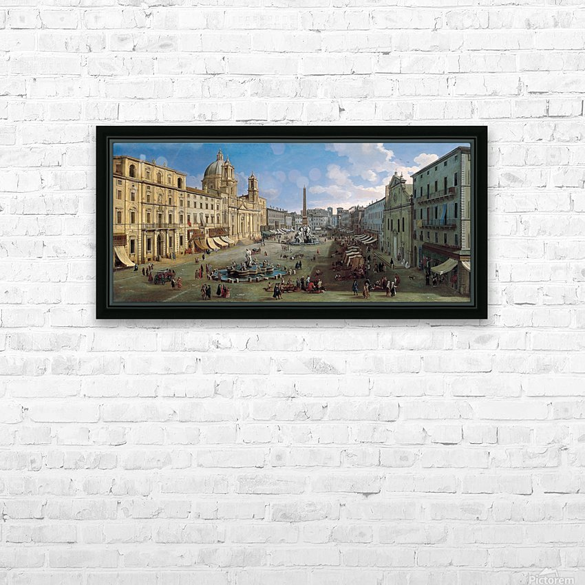 Piazza Navona HD Sublimation Metal print with Decorating Float Frame (BOX)