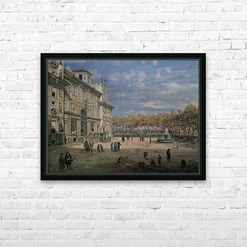 Villa Medici and garden in Rome HD Sublimation Metal print with Decorating Float Frame (BOX)