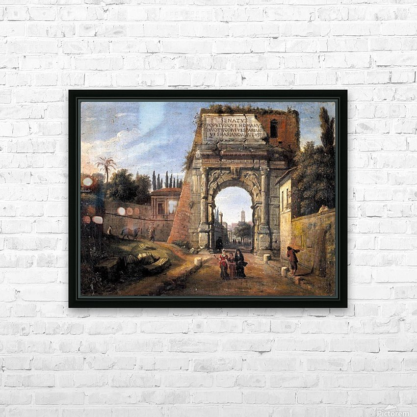 View of the Arch of Titus HD Sublimation Metal print with Decorating Float Frame (BOX)