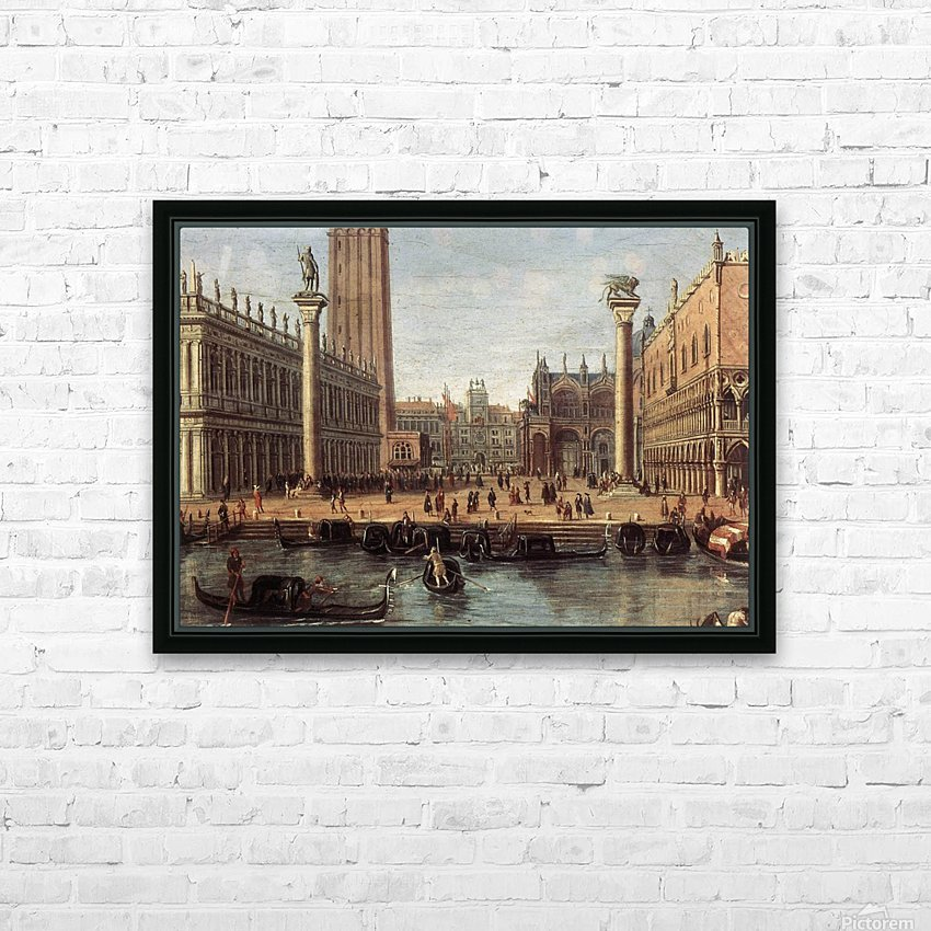 The Piazzetta from the Bacino di San Marco HD Sublimation Metal print with Decorating Float Frame (BOX)
