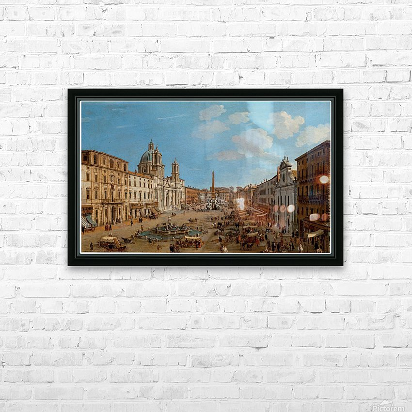 The Piazza Navona HD Sublimation Metal print with Decorating Float Frame (BOX)