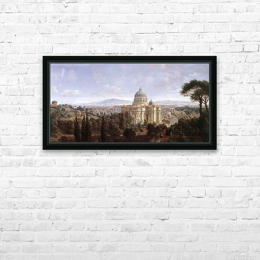 The St Peter's in Rome HD Sublimation Metal print with Decorating Float Frame (BOX)