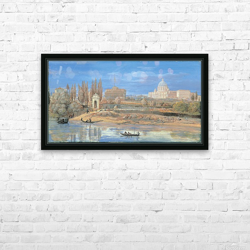Castle of Sant Angelo HD Sublimation Metal print with Decorating Float Frame (BOX)