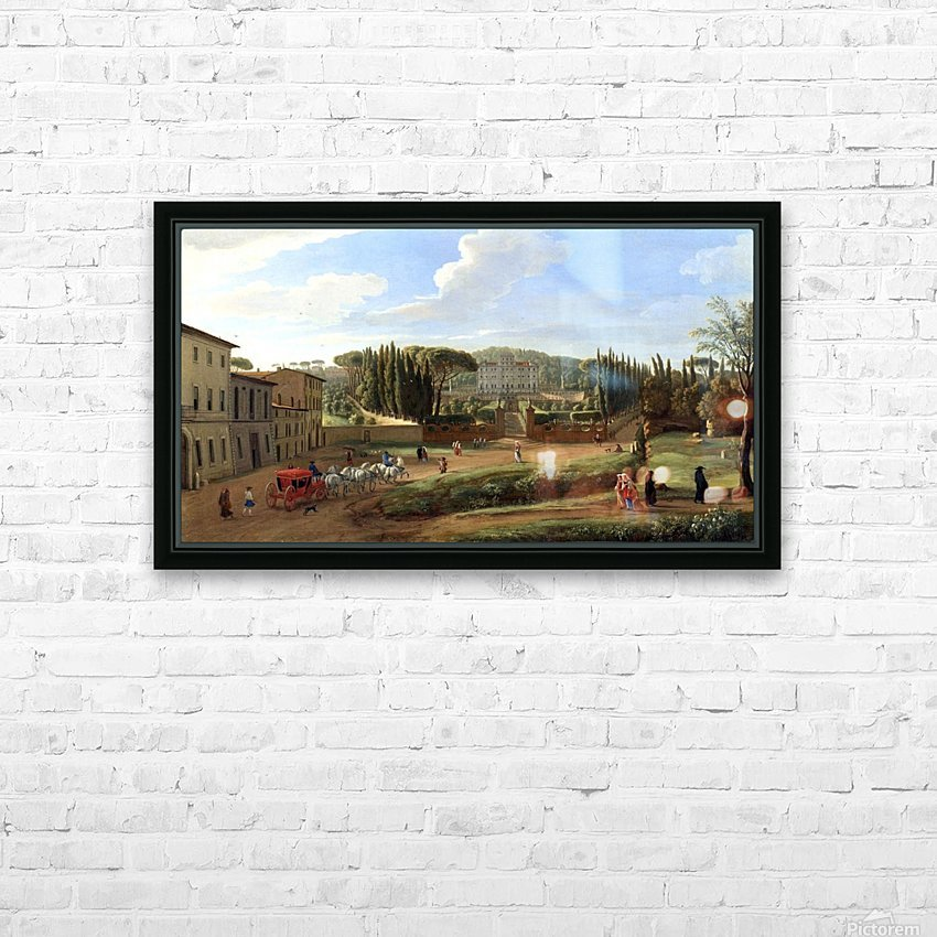 A view of the Villa Aldobrandini HD Sublimation Metal print with Decorating Float Frame (BOX)