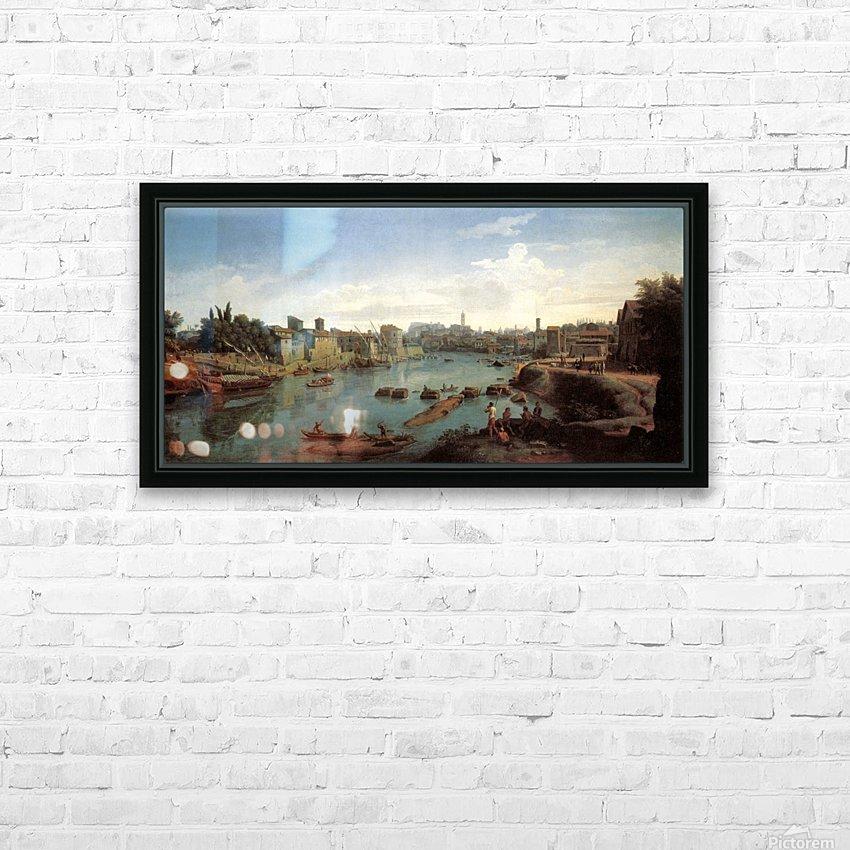Tiber near the Porto di Ripa Grande HD Sublimation Metal print with Decorating Float Frame (BOX)