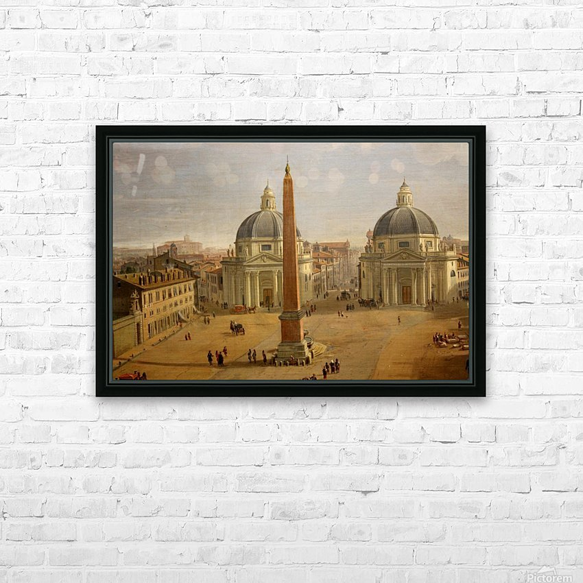 Veduta di Piazza del Popolo a Roma HD Sublimation Metal print with Decorating Float Frame (BOX)