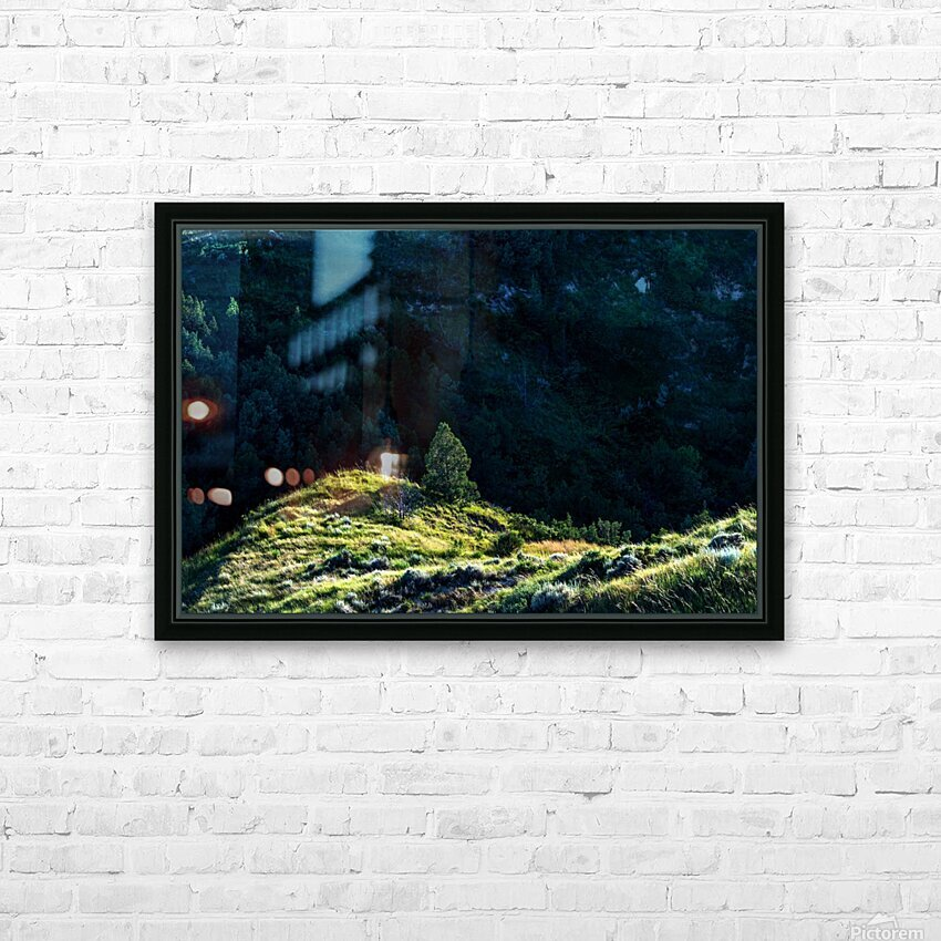 Lonesome Tree HD Sublimation Metal print with Decorating Float Frame (BOX)