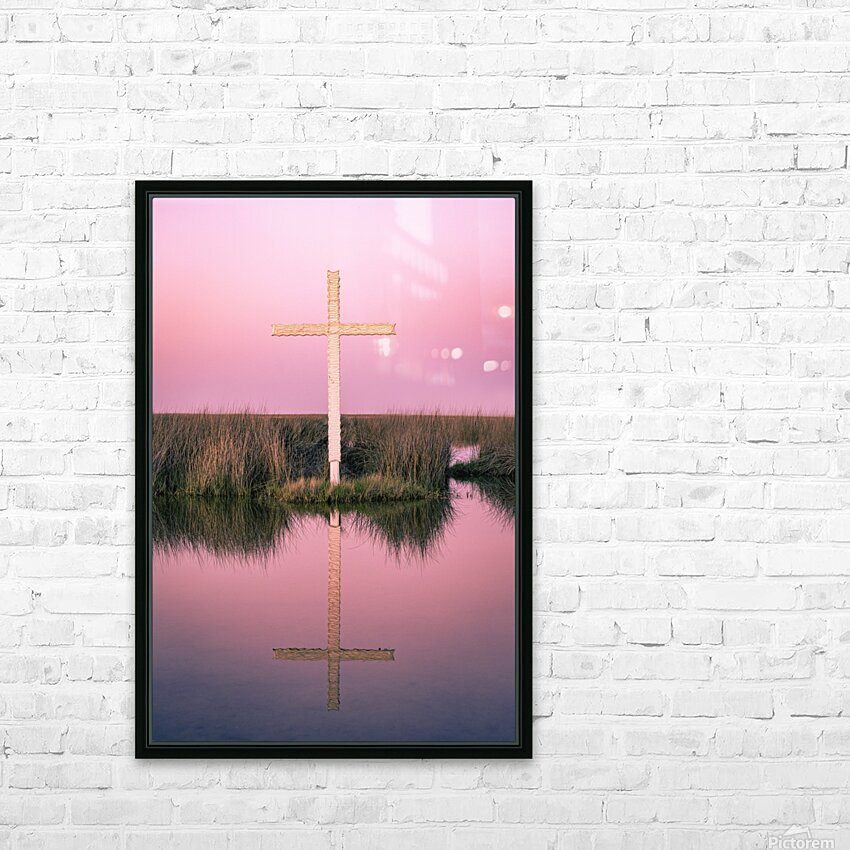Double Crossed HD Sublimation Metal print with Decorating Float Frame (BOX)