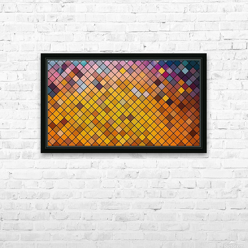 Mosaic Pattern HD Sublimation Metal print with Decorating Float Frame (BOX)