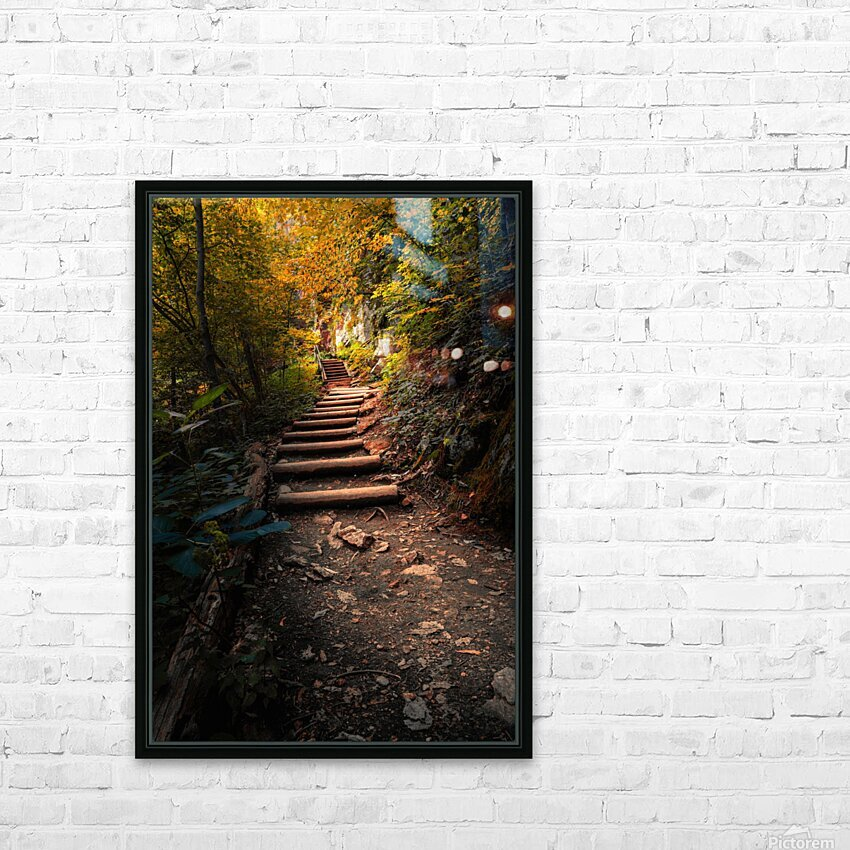 Climbing Colors HD Sublimation Metal print with Decorating Float Frame (BOX)