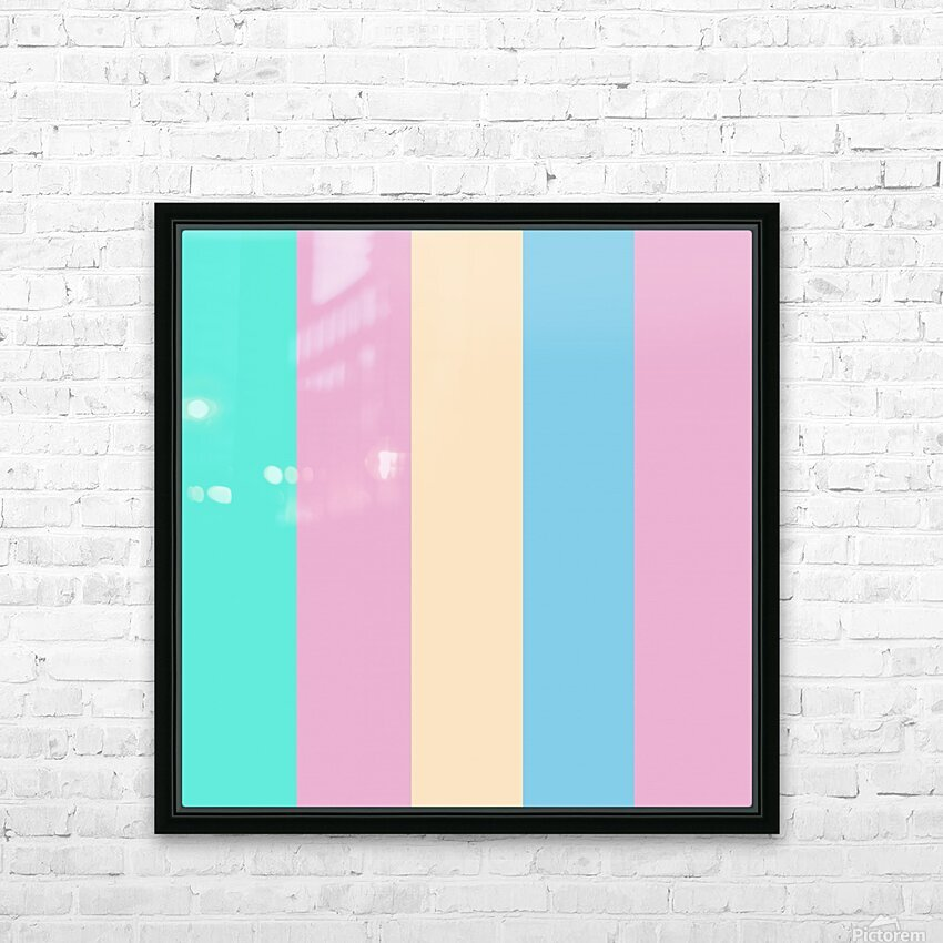 Pastel Palette HD Sublimation Metal print with Decorating Float Frame (BOX)
