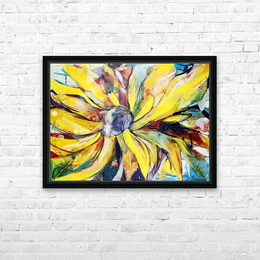 Louisiana Sunflower II HD Sublimation Metal print with Decorating Float Frame (BOX)