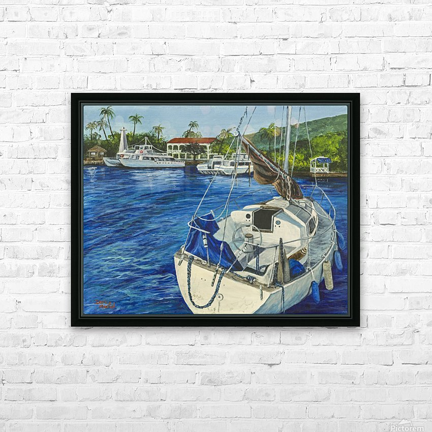 Lahaina Yacht HD Sublimation Metal print with Decorating Float Frame (BOX)