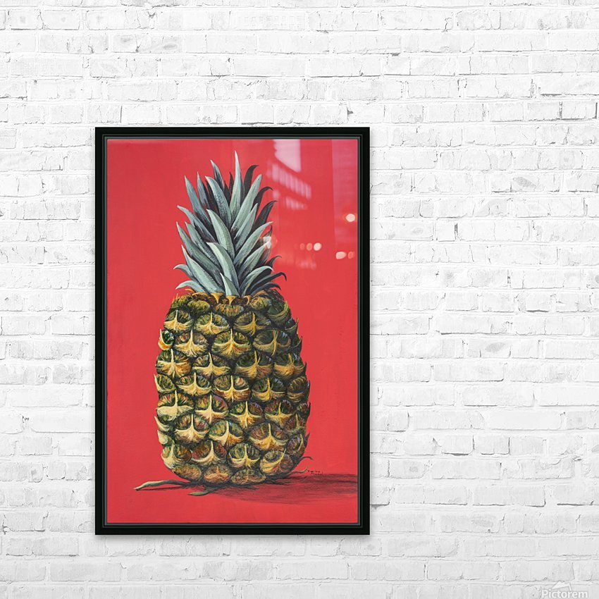 Pineapple  HD Sublimation Metal print with Decorating Float Frame (BOX)