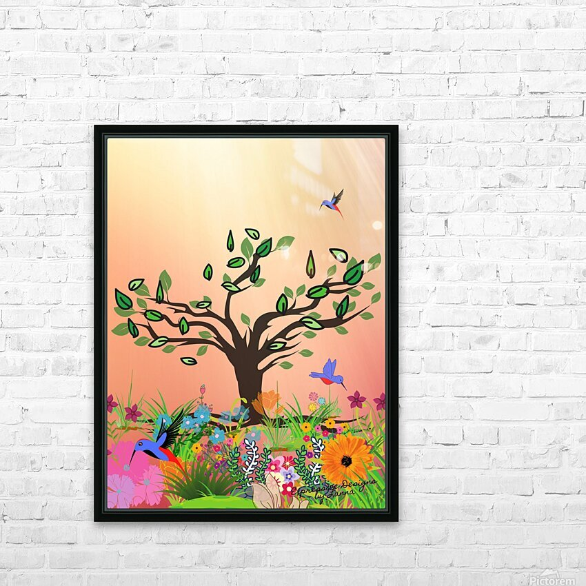 Morning Break HD Sublimation Metal print with Decorating Float Frame (BOX)