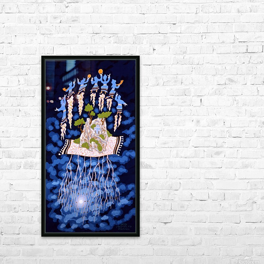 1990 032 HD Sublimation Metal print with Decorating Float Frame (BOX)