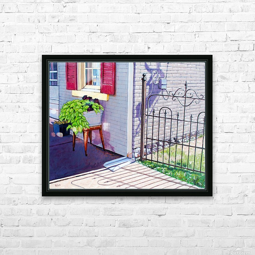 Red Shutters HD Sublimation Metal print with Decorating Float Frame (BOX)