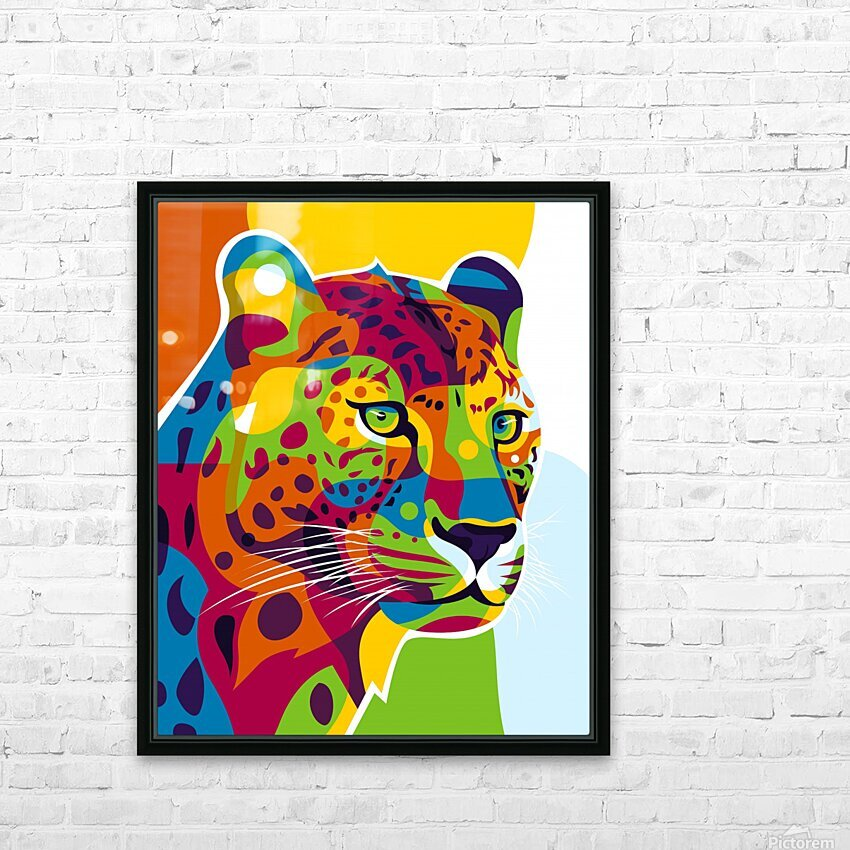 The Colorful Leopard HD Sublimation Metal print with Decorating Float Frame (BOX)