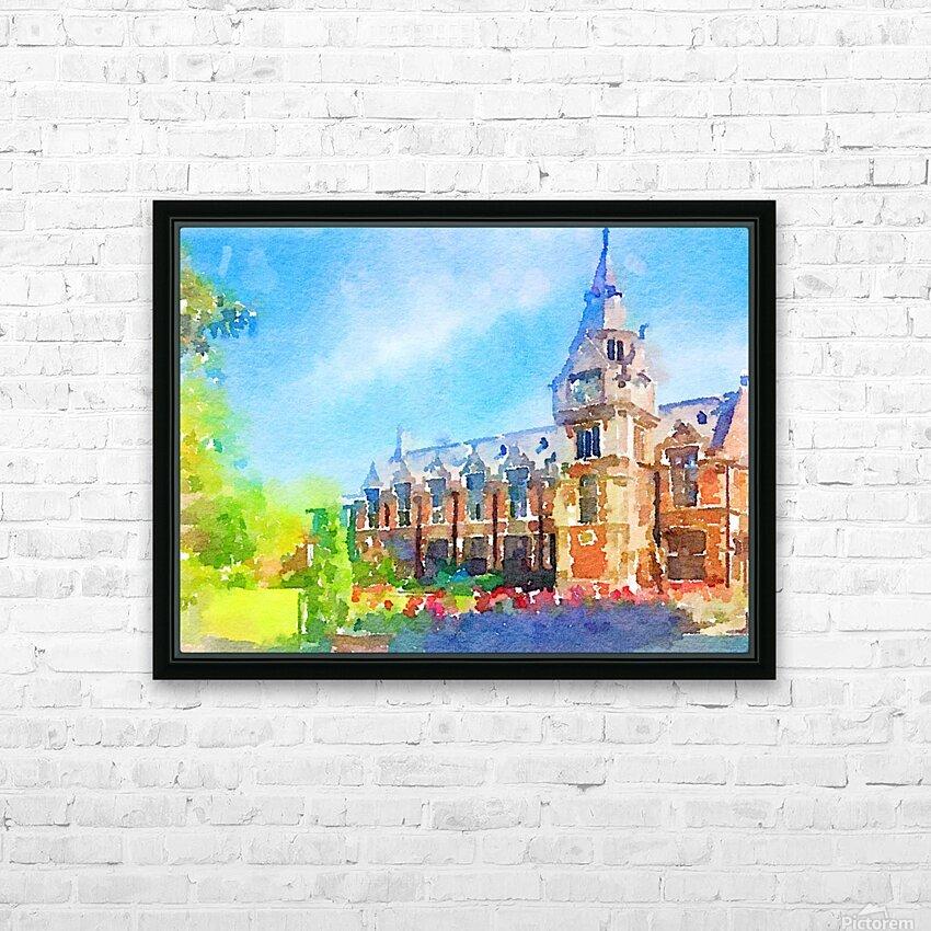 Pembroke collegeCambridge HD Sublimation Metal print with Decorating Float Frame (BOX)