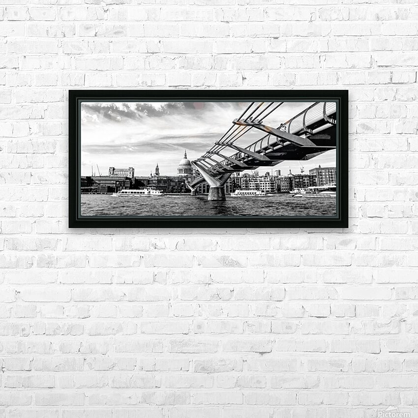 River Thames - London city skyline HD Sublimation Metal print with Decorating Float Frame (BOX)