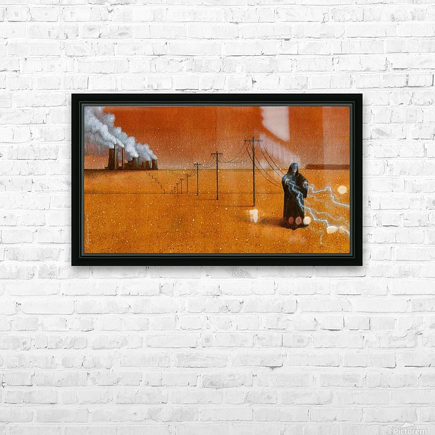 dark industry HD Sublimation Metal print with Decorating Float Frame (BOX)