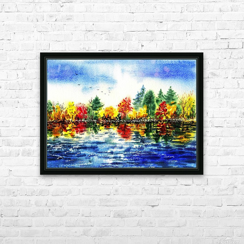 Fall Reflections HD Sublimation Metal print with Decorating Float Frame (BOX)