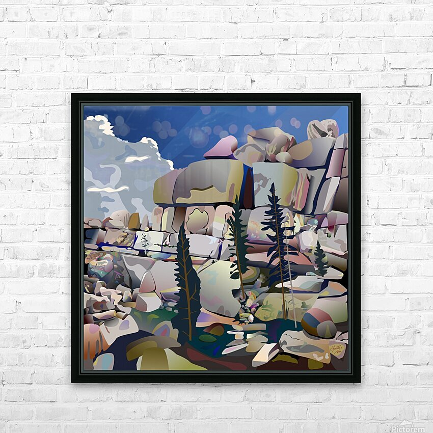 Earth Bound HD Sublimation Metal print with Decorating Float Frame (BOX)