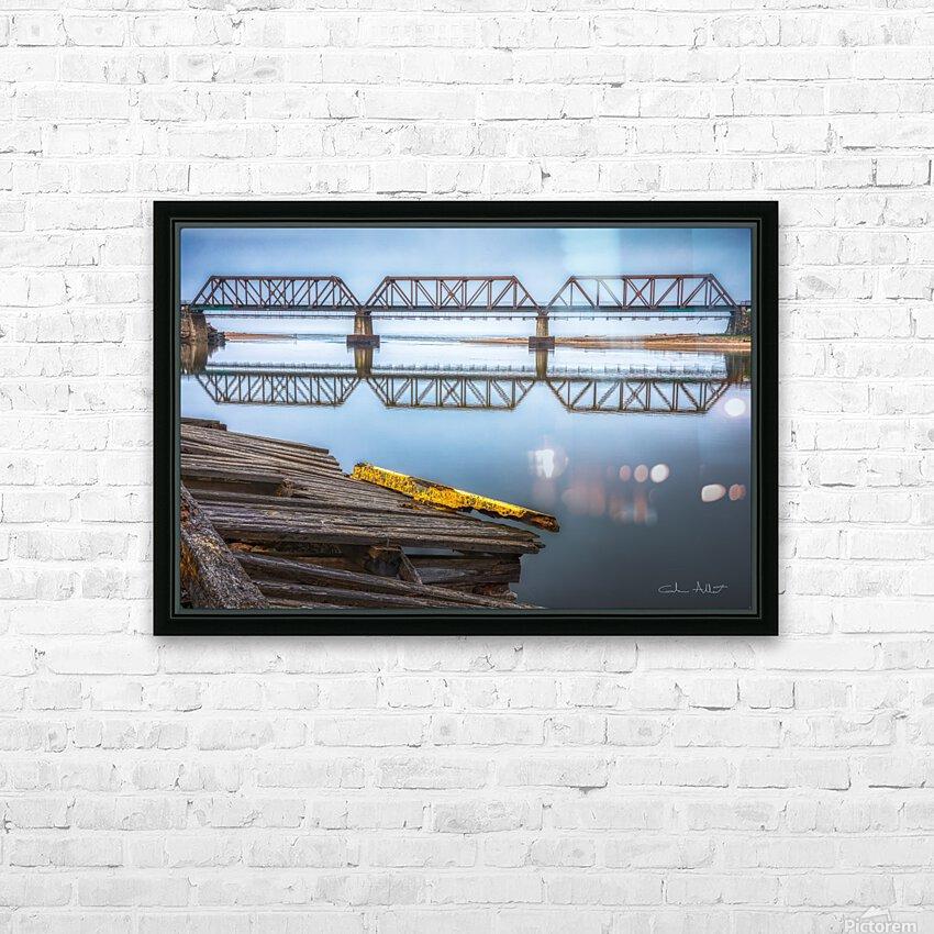 Double pont HD sublimation métal imprimé avec décoration flotteur cadre (boîte)