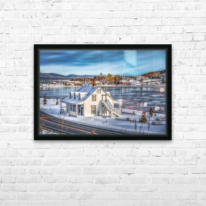Premiere neige sur Gaspe HD Sublimation Metal print with Decorating Float Frame (BOX)