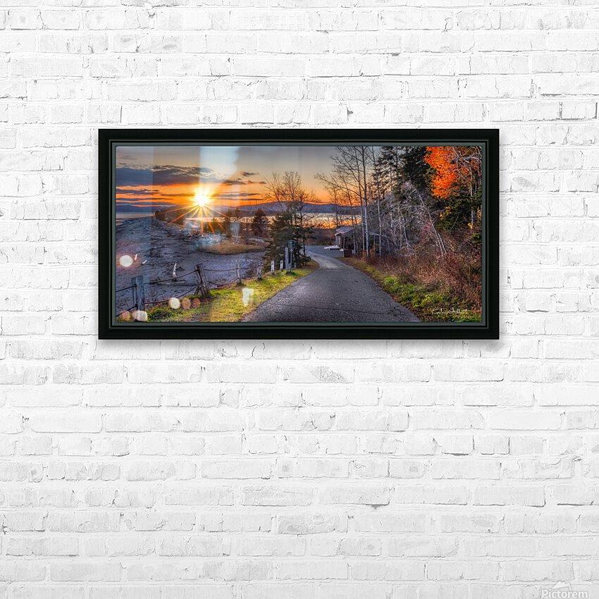 Couche soleil Penouille HD sublimation métal imprimé avec décoration flotteur cadre (boîte)