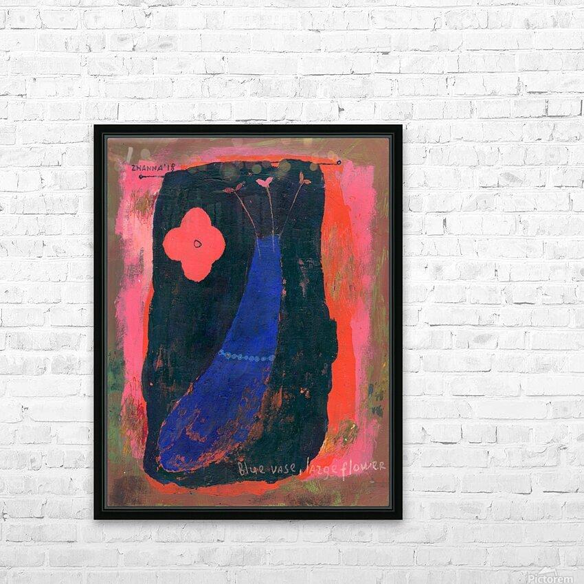 Blue Vase Large Flower HD Sublimation Metal print with Decorating Float Frame (BOX)
