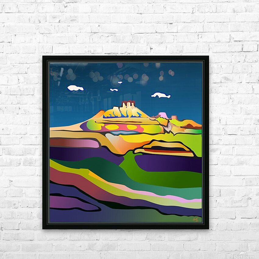 Rock Springs HD Sublimation Metal print with Decorating Float Frame (BOX)