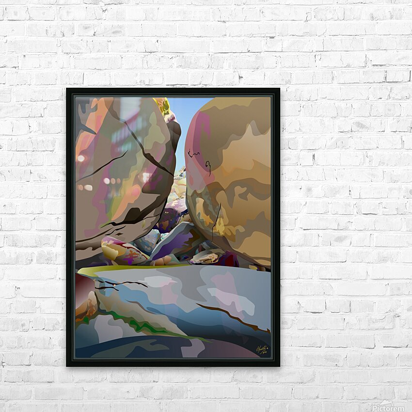 Box Canyon HD Sublimation Metal print with Decorating Float Frame (BOX)