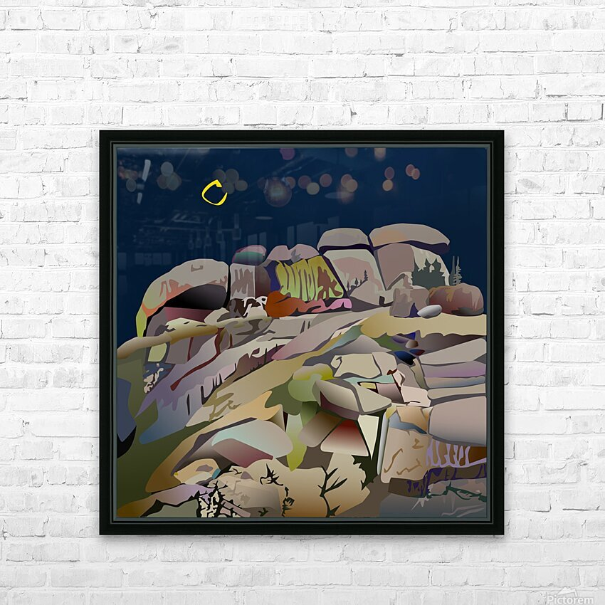 Vedauwoo at Night HD Sublimation Metal print with Decorating Float Frame (BOX)