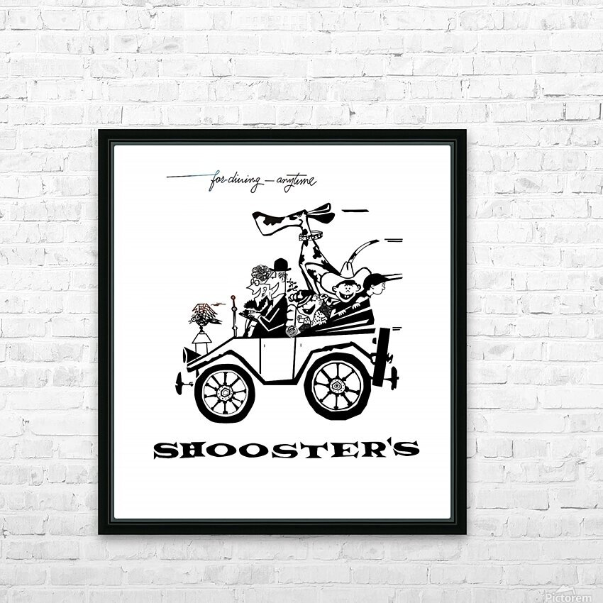 Shoosters Drive-In HD Sublimation Metal print with Decorating Float Frame (BOX)