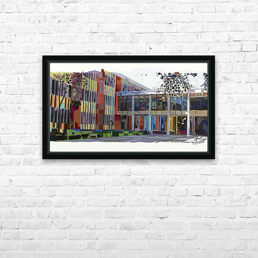 University of Florida College of Art HD Sublimation Metal print with Decorating Float Frame (BOX)