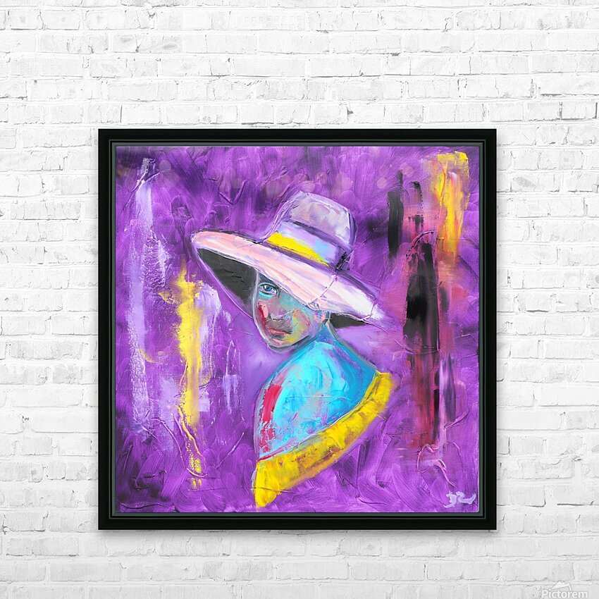 Woman in violet HD Sublimation Metal print with Decorating Float Frame (BOX)